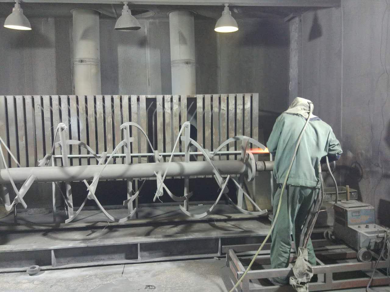 螺带搅拌轴喷涂碳化钨耐磨处理,防止金属杂质进入物料中